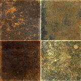 Collection of leather textures royalty free stock photography