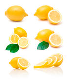 Collection of lemon images Royalty Free Stock Photography