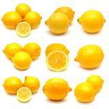 Collection of lemons Stock Image