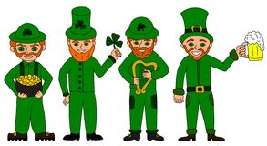 Collection of leprechauns Stock Image