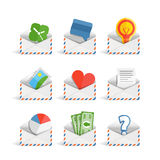 Collection of lette icons Royalty Free Stock Image