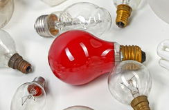 Collection light bulbs Royalty Free Stock Images