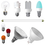 A Collection of Light Bulbs Stock Photography