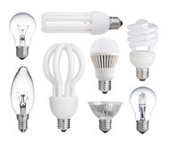 Collection of light bulbs Royalty Free Stock Photography
