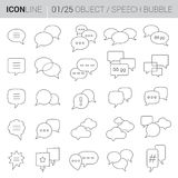 Line Speech Bubbles vector icons Royalty Free Stock Photography