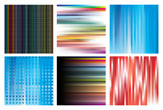Collection of linear structures Royalty Free Stock Photo