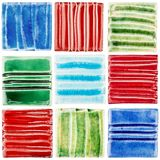 Collection of handmade glazed ceramic tiles Royalty Free Stock Images