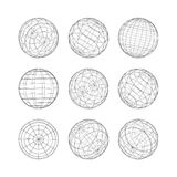 Collection of lines ball vector template Royalty Free Stock Images