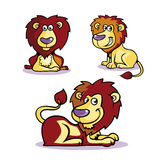Collection of Lion Cartoon Royalty Free Stock Images