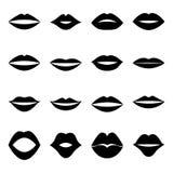 Collection of lips,  illustration. Set of lips,  illustration Stock Image