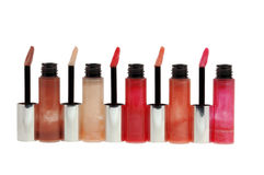 Collection of lipsticks Stock Image
