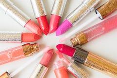 Collection of lipsticks Stock Photos