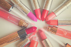 Collection of lipsticks Royalty Free Stock Photography