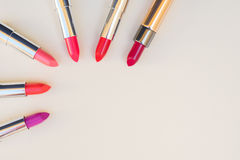Collection of lipsticks Stock Images
