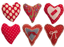 Collection of little hearts Stock Image