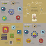 Collection of logistic flat infographics Stock Image