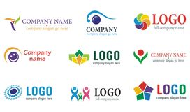 Collection of logo Royalty Free Stock Photos