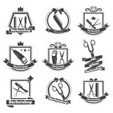 Collection logo barbershop Royalty Free Stock Photos