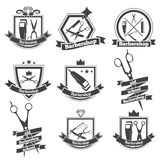 Collection logo barbershop Royalty Free Stock Images