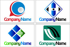 Collection logos Stock Photo