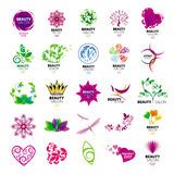 Collection logos for beauty salons royalty free illustration