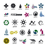 Collection logos and fuel oil Stock Photos