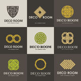 A collection of logos for interior Stock Images
