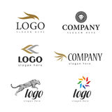 Logo fur salon. Collection of logos for interior selling fur Stock Images