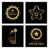 Collection logos magic makeup for the stars Stock Photos