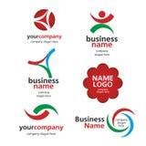 Collection of  logos spektorny Royalty Free Stock Photos