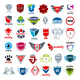 Collection logos protection and enforcement Royalty Free Stock Image