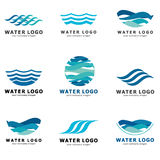 A collection of logos for water and plumbing. Water Association. Icons in vector Stock Photo