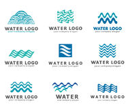 A collection of logos for water and plumbing. Water Association. Icons in vector Stock Photography