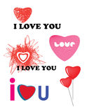Collection of love concepts Royalty Free Stock Images