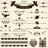 Collection of love design elements. Vector illustr Stock Photo