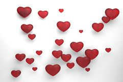 Collection of love hearts Stock Images