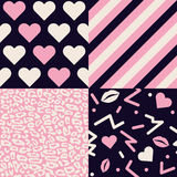 Collection of Love Patterns Royalty Free Stock Images