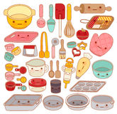 Collection of lovely pastry tool and equipment , cute rolling pi Royalty Free Stock Photo