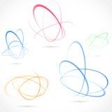Collection lumineuse d'élément d'orbite d'atome de remous illustration libre de droits