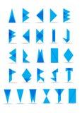 Collection lumineuse d'alphabets de triangles illustration libre de droits