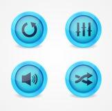 Collection lustrée de boutons de reproducteur multimédia Photographie stock