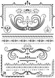 Collection luxury borders and ornaments on white background Stock Image