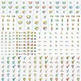 Collection méga énorme d'icônes de logo de société illustration de vecteur