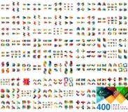 Collection méga énorme de calibres de conception de bannière de Web illustration libre de droits