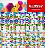 Collection méga énorme de milieux abstraits géométriques de vecteur avec des formes brillantes de flèche illustration libre de droits