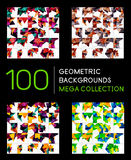 Collection méga énorme de milieux de triangle illustration libre de droits