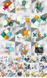 Collection méga énorme de papier géométrique abstrait illustration stock