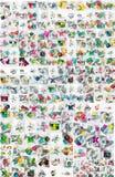 Collection méga énorme de papier géométrique abstrait illustration libre de droits