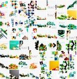 Collection méga énorme de papier géométrique abstrait illustration de vecteur