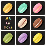 Collection of macaron Royalty Free Stock Images